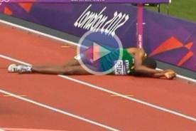 Olimpiadas 2012: Atleta se lesiona en el último obstáculo - Video