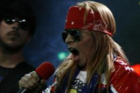 Video: Axl Rose peruano  regala buen espectáculo en set de Yo Soy