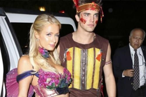 Paris Hilton lució sexy disfraz en fiesta de la mansión Playboy (Fotos)