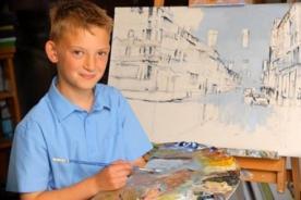 Niño de 10 años es millonario gracias a sus cuadros