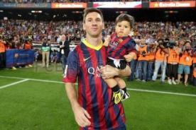 Video: Lionel Messi grabó los primeros pasos de su hijo