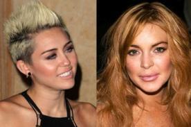 Miley Cyrus y Lindsay Lohan se divierten juntas en club neoyorquino