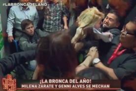 [Video] Milena Zárate y Geni Alves se pelearon en canal de televisión