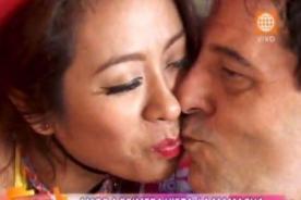 ¿Qué cosa? ¿'Mamacha' Cathy Saenz le roba un beso a papá de este 'guerrero'?