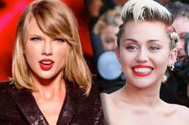 ¡Miley Cyrus ataca a Taylor Swift por video!