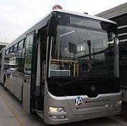 Bus del metropolitano se despistó y causó congestionamiento vehicular