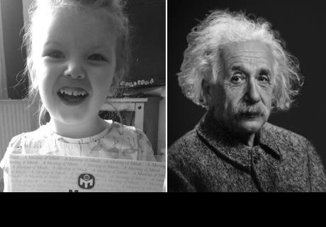 La niña que superó a Einstein