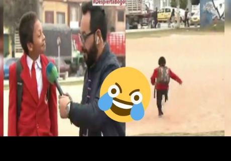 El niño  dejó hablando solo a periodista en vivo al enterarse que estaba tarde