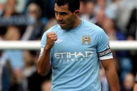 Carlos Tévez volverá este miércoles con el Manchester City