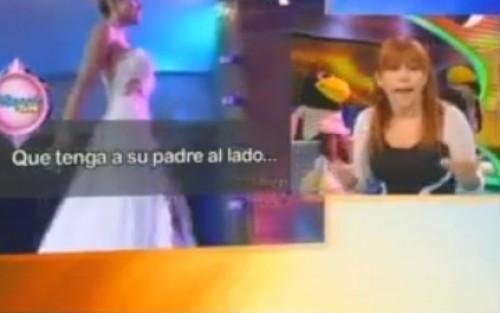 Video: Magaly le dijo 'brutita' a Miss Perú Universo Cindy Mejía