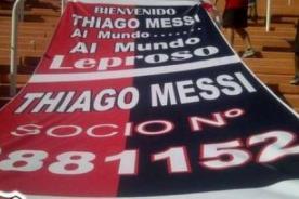 Thiago Messi ya es socio honorífico del Club Atlético Newell's Old Boys