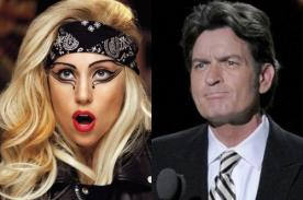 Lady Gaga le ha propuesto un striptease a Charlie Sheen