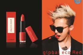 G-Dragon es la imagen de un nuevo labial rojo