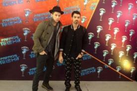 Los Jonas Brothers se volvieron a juntar en los premios Telehit