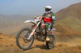 Dakar 2014: Motociclista peruano quedó fuera por dislocación de hombro