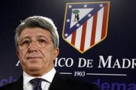 Presidente del Atlético de Madrid: Si el Real Madrid quiere, jugamos la final en el Bernabéu