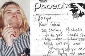 Kurt Cobain: Hallan ofensiva carta del cantante a Courtney Love - FOTO