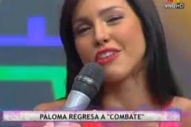 Paloma Fiuza vuelve a Combate tras ser reemplazada por Yiddá Eslava