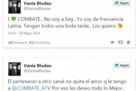 Vania Bludau seguiría siendo fiel a Combate estando en Esto Es Guerra