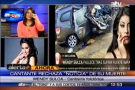 Wendy Sulca se pronuncia y desmiente rumores de su supuesta muerte