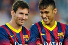 ¡Ouch! Lionel Messi le da pelotazo a Neymar en los genitales [Video]