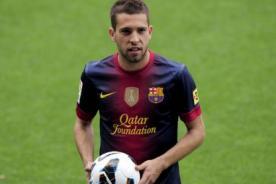 Barcelona: Jordi Alba recibido en el Camp Nou por 15 mil hinchas - Video