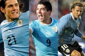 Luis Suárez, Diego Forlán y Edison Cavani arrancarían ante España