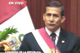 Mensaje presidencial 2013: Humala comete errores y tartamudea al leer - Video