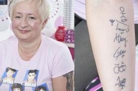 One Direction: Mujer de 47 años es directioner y tiene 20 tatuajes - Fotos