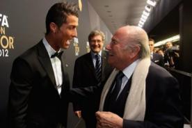 Joseph Blatter se disculpó con Cristiano Ronaldo por medio de carta