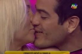 Combate: Yamila Piñero y Ernesto se besaron en vivo - Video