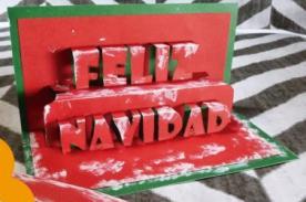 Como hacer una tarjeta de Feliz  Navidad con efecto 3D