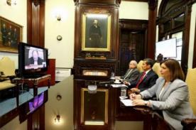 Presidente Ollanta Humala escucha fallo de La Haya en Palacio de Gobierno