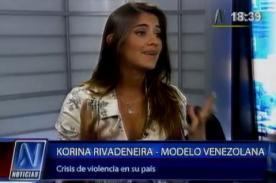 Korina Rivadeneira llora al contar la situación de Venezuela - Video