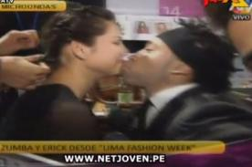 Combate: Zumba le roba beso a modelo del Lima Fashion Week - Video