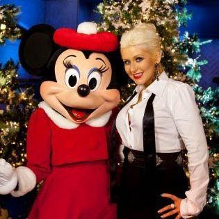 Christina Aguilera adelantó la navidad en Disney