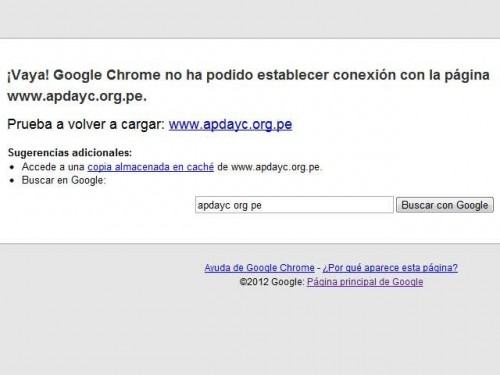 Anonymous atacó la página web de APDAYC