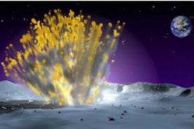 Destello Lunar tras choque de meteorito