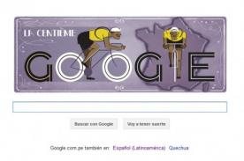 Google recuerda la edición 100 del Tour de France con doodle interactivo