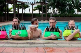 Viral: Tributo a temas de videojuegos usando botellas de cerveza - VIDEO