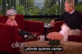 Niño canta al ritmo de Bruno Mars en el programa de Ellen DeGeneres- VIDEO