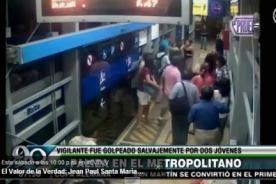 Metropolitano: Vigilante golpeado por dos hombres en estación Balta [Video]