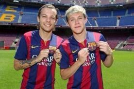 One Direction vistió camisetas del FC Barcelona en Camp Nou [Fotos]