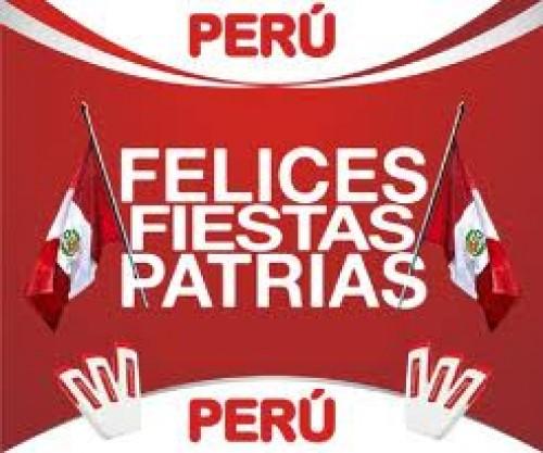 28 de julio: felices fiestas patrias Perú