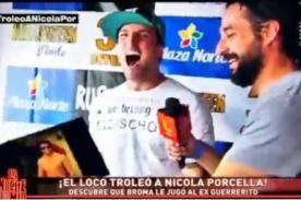 Angie Arizaga: ¡A Nicola Porcella solo le quedó reír cuando le hicieron esto!  - FOTO