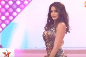 Milett Figueroa sufrió incómodo descuido en El Gran Show - VIDEO