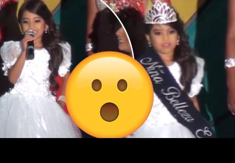 Niña sorprende con emotivo discurso dirigido a las mujer en concurso de belleza