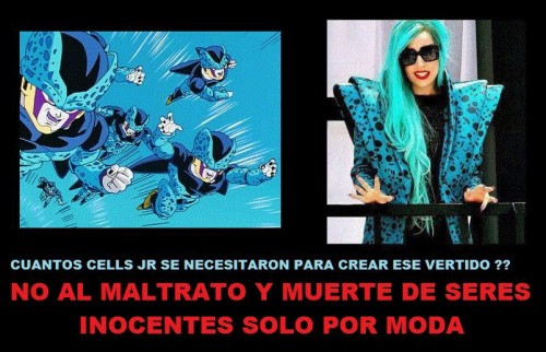 Comparan a Lady Gaga con 'Cell' de Dragon Ball Z