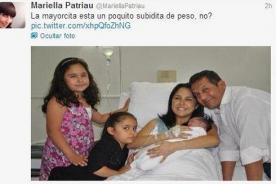 Mariella Patriau cerró su Twitter luego de comentario sobre hija de Humala
