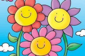 Dibujos de hermosas flores en el mes de la primavera